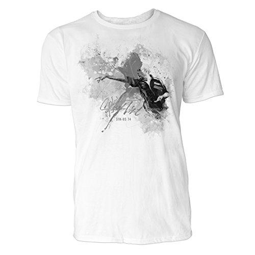 s Art ® Herren T Shirt ( Schwarz Weiss ) Sportshirt Baumwolle (Pfeil Anzug-kollektion)