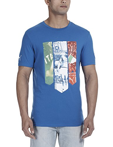 Puma Herren Italien T-Shirt Figc Italia Badge Tee, Team Power Blue, M, 745186 01