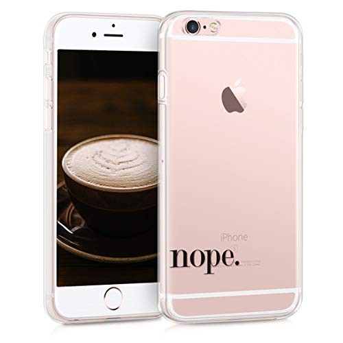 kwmobile Apple iPhone 6 / 6S Hülle - Handyhülle für Apple iPhone 6 / 6S - Handy Case in Schwarz Transparent