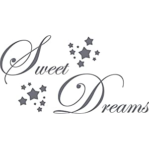 GRAZDesign Home Dekoration modern Sweet Dreams - Wand-Dekoration Süße Träume übers Bett - Wandtattoo Schlafzimmer Sterne / 57x30cm / 720044_30_071