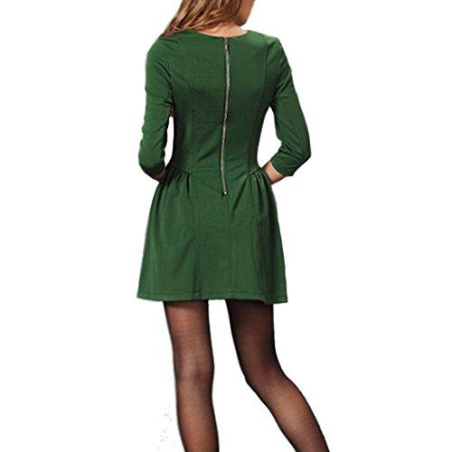 LOBZON Damen Cocktail Kleid Grün