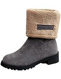 Botas Mujer, Transer® Señoras de moda las mujeres botas de nieve plana zapatos de invierno cálido