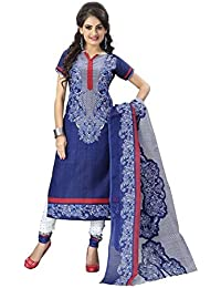 Women's Cotton Silk Salwar Suit Dress Material (SalwarSuit_patiyala_UnStitched)