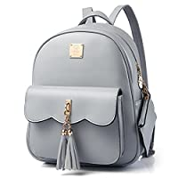 Yimoji PU Leather Backpack Girls College Student School Bag Women Travel Rucksack
