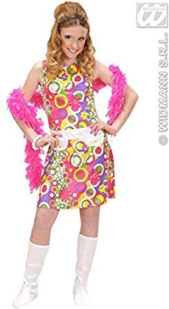 childrens-70s-girl-costume-large-11-13-yrs-158cm-for-1970s-disco-hippy-hippie-fancy-dress