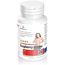 Raspberry Ketone Kapseln 180 Stück natürliches Abnehmen mit reiner reine Himbeer-Ketone, reicht für 3 Monate
