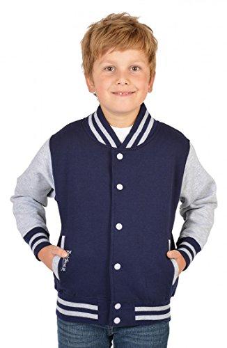 Jungen USA Collegejacke - Beale Street 56 - in navy-blau - Geschenk / cooles Rockabilly Outfit für Schule oder Freizeit, Kinder Größe:M /...