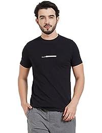 FCUK Men's Solid Regular Fit Cotton T-Shirt
