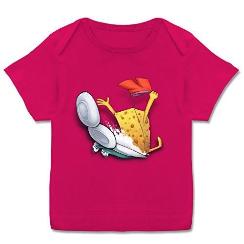 Up to Date Baby - Spülschwamm - Wasserrutsche - 68-74 (9 Monate) - Fuchsia - E110B - Kurzarm Baby-Shirt für Jungen und Mädchen