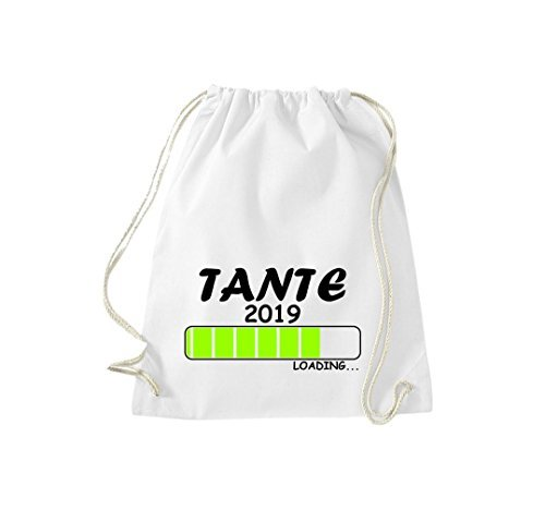 ShirtInStyle Gym Sack Turnbeutel Loading TANTE 2019 Weiß