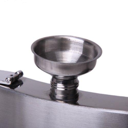 Sonline 2 Stueck Edelstahl Trichter Flachmann Funnel – Silber - 3