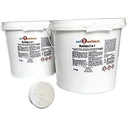 well2wellness Chlor Multitabs 5 in 1 200g mit 96% Aktivchlor - 10 kg (2 x 5 kg)