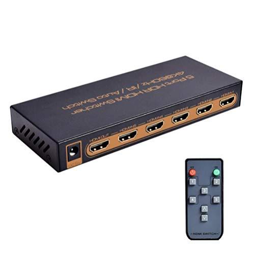 FFyy J HDMI HDR 3-Port-Laufwerk, unterstützt HDCP 2.2.4K @ 60Hz, IR, V2.0 Auto Switch Matrix-port Expander