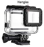 Mc Boddy Tauchgehäuse für Ihre GoPro Hero 5 Black, Hero 6 Black, 2018 Black Sport Kamera, Schutzgehäuse wasserdicht bis 45m Wassertiefe