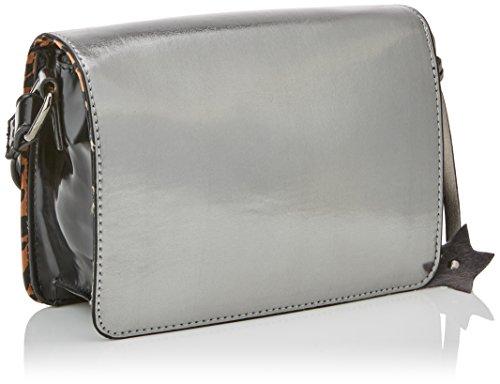 MTNG Damen Cathia Umhängetasche, 16 x 13 x 7 cm Silber (Metalic Plata)