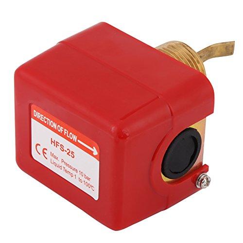 1PC Walfront Rojo Interruptor de Latón de Control de Flujo de Agua de Bomba Conexión de Rosca NPT con 5 Paletas Válvula de Cierre