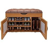 Qing Mei Gabinete para Zapatos Sencillo Hogar, Zapatos De Madera Maciza, Banco De 3 Capas Gabinete para Guardar Muebles En El Dormitorio (con Botas) A++ (Color : A, Tamaño : 60cm)