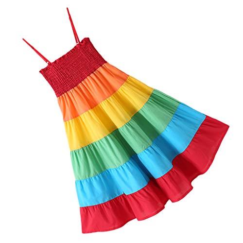 Luckiests Mädchen-Prinzessin Sleeveless beiläufige Kleid-Knöchel-Längen-Baumwollsommer-Kleid (Für Knöchel-länge Kleider Mädchen)