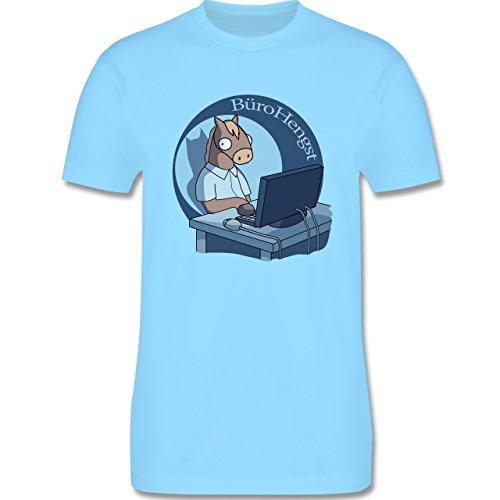 Statement Shirts - BüroHengst - Herren Premium T-Shirt Hellblau