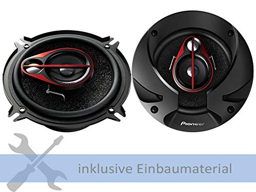 Pioneer Lautsprecher TS-R1350S 250 Watt 130 mm 3-Wege Koax für VW Golf 1 Cabrio (155) 1987-1993 Türen Front -