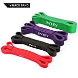 INTEY Фитнес топтары Premium Resistance Band Табиғи латексті жасалған гимнастика тобы Төзімділік жолақтары нұсқаулық нұсқаулары бар шнурды көмекке қарсылық және қолдау ретінде