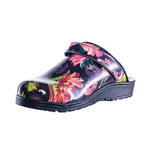 Sanita Footwear Slipper Clogs Hausschuhe, Farbe: Flower, Größe: 40