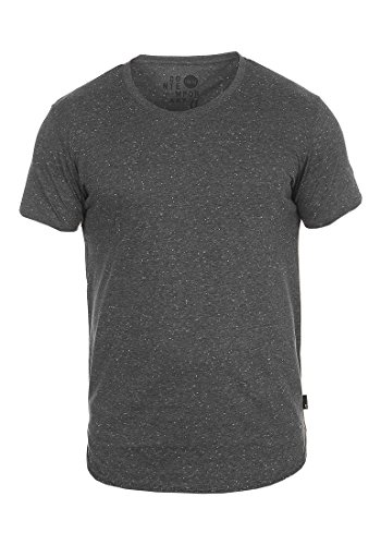 !Solid Thias Herren T-Shirt Kurzarm Shirt mit Rundhalsausschnitt, Größe:3XL, Farbe:Black (9000) (T-shirt Baseball-leichtes)