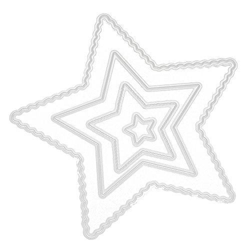 Junjie Mode Stanzformen Schablonen Scrapbooking Präge DIY Handwerk Frohe Weihnachten Metall Erntedankfest Valentinstag Briefe Stanzformen Scrapbooking Spaß Dekoration 2018 Blumen Metall Festival