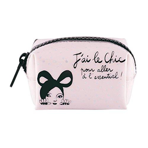 Porte-monnaie CHIC ESSENTIEL Rose pour Femme Fille - Valérie Nylin DLP Derrière La Porte