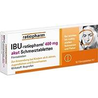 Preisvergleich für IBU-ratiopharm 400mg akut Schmerztabletten, Wirkstoff:Ibuprofen, bei leichten bis mäßig starken Schmerzen und...