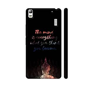 Colorpur Lenovo K3 Note Cover - Buddha Mind Quote Printed Back Case