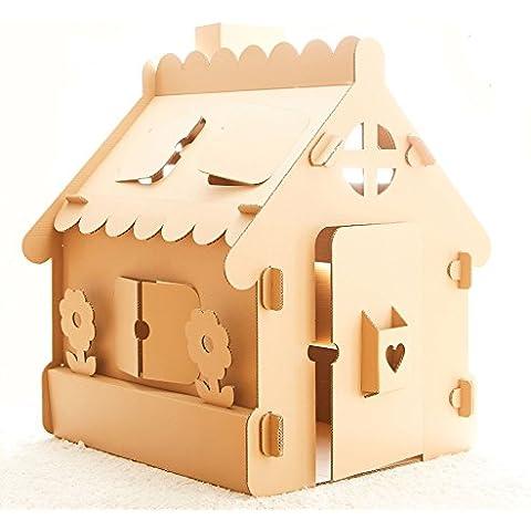 Casa de juguete. Kit Recreación Creativa. Casa de cartón