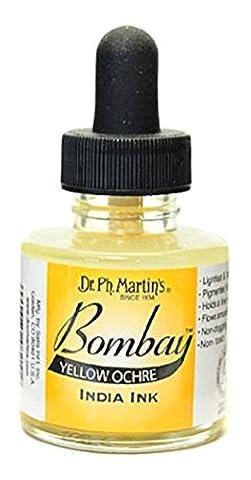 Dr. Ph. Martin's Bombay India Ink, 1.0 oz, Yellow Ochre