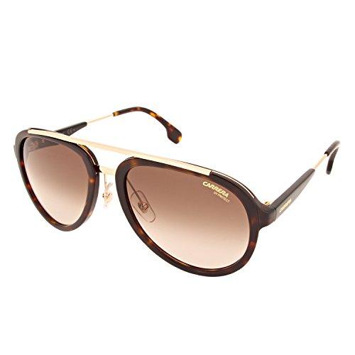Carrera Unisex-Erwachsene 132/S HA 2IK Sonnenbrille, Havana Gold/BRWN SF, 57