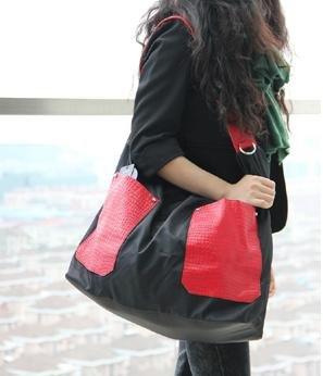 ZY Ultra leggeri sacchetti di nylon di letto King size. Borse casual di borse donna. Borsa tracolla da donna. Maxi borse tracolla , red