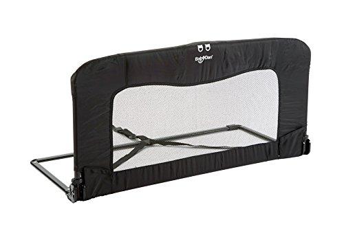 BABY DAN Sicherheitsgitter für Betten klappbar - 45 x 90 cm - schwarz/champagnerfarben