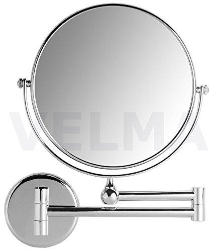 VELMA - AE802 5x - Hochwertiger 2-seitiger Kosmetikspiegel - 5-Fach Vergrößerung + Normalgröße -...