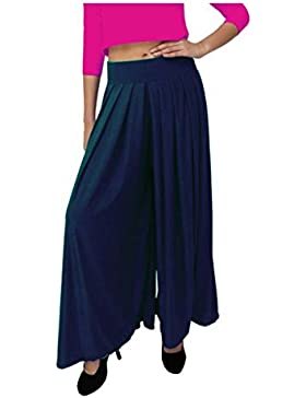 Indian Handicrfats Export Dolce Divaa Flared Women's Dark Blue Trousers