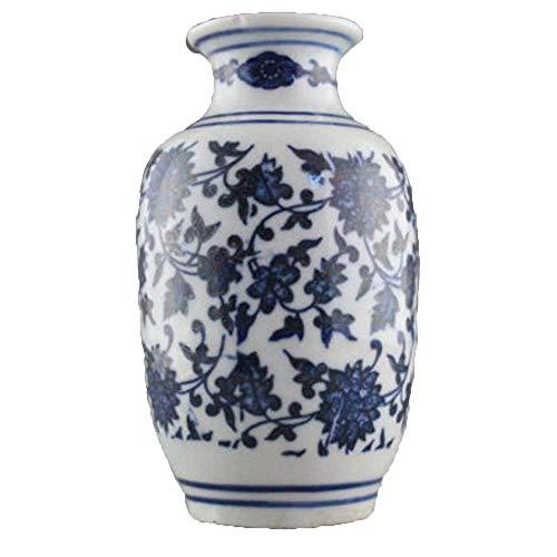 Antiquit/és Tr/ès belle porcelaine de Chine Vase en porcelaine peinte /à la main avec des fleurs bleues et blanches