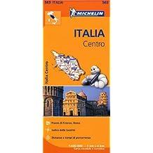 Carta stradale. Italia Centro