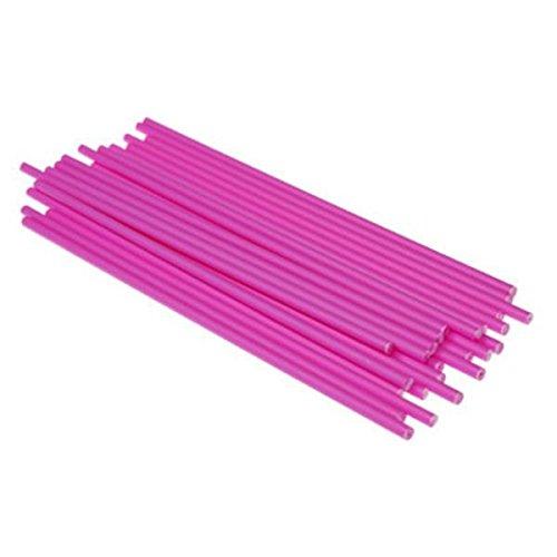 (Kunststoff Lollipop Sticks Pink 19 cm, 25 Stück)