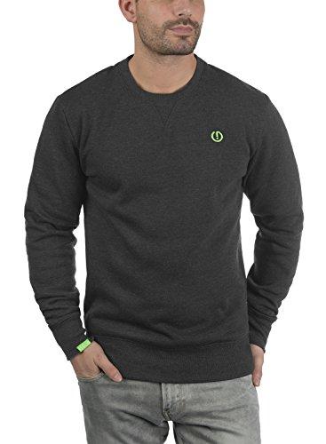 SOLID Benn O-Neck Herren Sweatshirt Pullover Sweater mit Rundhals-Ausschnitt aus hochwertiger Baumwollmischung Dark Grey Melange (8288)