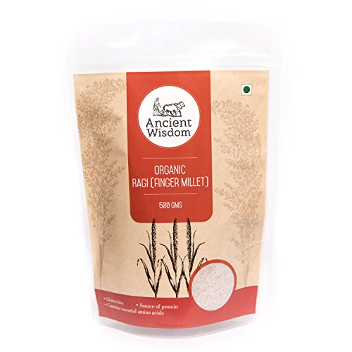 Ancient Wisdom Organic Ragi Flour (Finger Millet) 500 GM