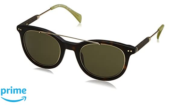 Unisex-Adults TH 1348/S 1E Sunglasses, Havana Gold Brown, 49 Tommy Hilfiger