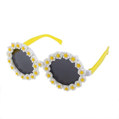 MagiDeal Neuheit Runde Brille Kostüm Partei Sonnenbrille Daisy (Kostüm Blume)