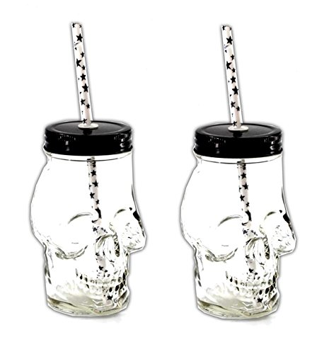 f Glas | Skull Cocktailgläser | Bar Glas Becher | Trinkbecher ()