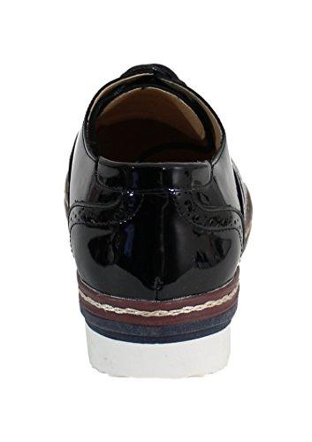 Chaussure Brillante Style Derby - No Name - Spéciale Été Black