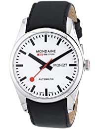 Mondaine Men's Automatic Watch Retro Automatic A132.30345.11SBB with Leather Strap