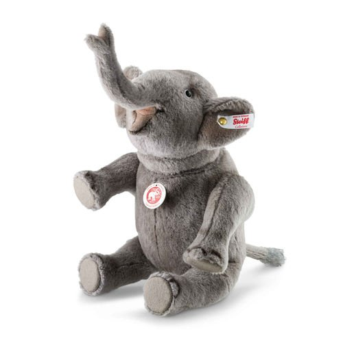 Steiff, 021688, Elefant, Nelly, sitzend, 28 cm, grau, Plüschelefant, Sammlerartikel