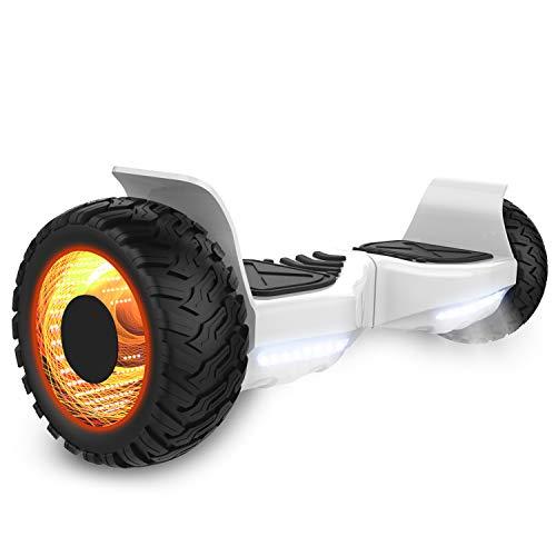 GeekMe Off-Road Elektroroller 8.5 '' SUV Hummer Gelände intelligenter Self Balance Scooter Board Hover Fantastische LED-glühende Räder mit Bluetooth-Funktion